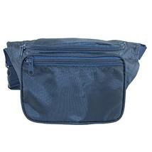 CTM Multi Pocket Fabric Waist Pack, Navy