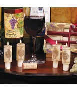 Wine Cork Candles Wine Gift Set Vineyard Design and Merlot Scent  - €11,54 EUR
