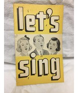 Let's Sing: Song Leader's Handbook 1962  - $2.97