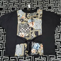 GODDESS Women's Blouse Top Shirt 3X Paisley Floral Print NWT - $15.83