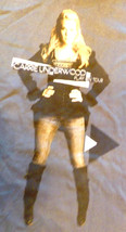 Carrie Underwood Grey Concert Tour T-Shirt Tee Small S Play On 2010 w/Ci... - $2.77