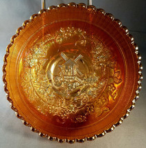 Vintage Imperial Glass Marigold Carnival Windmill 7 inch Bowl (circa 1920s) - $31.50