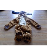 Infant Size 0-9 Months Brown Puppy Dog Halloween Costume Hooded Jumpsuit... - $20.00