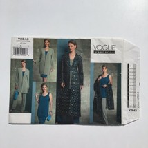 Vogue 2843 Wardrobe Jacket Duster Tunic Skirt Pants Trousers Shawl 8-12 ... - $9.70