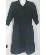 Eileen Fisher Black Dress Petite Medium PM Cotton Shirtwaist A-Line Pockets - $49.49