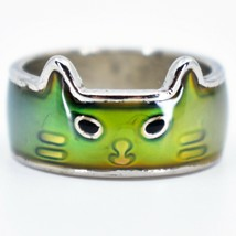 Kitty Cat Kitten Face Shape Children's Color Changing Fashion Mood Ring