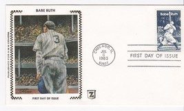 BABE RUTH #2046 CHICAGO, IL JULY 6, 1983 Z SILK CACHET D-1296a - ₹228.14 INR