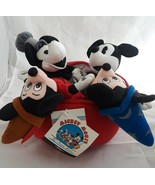 Disney Mickey Mouse Plush Bean Bag Set 70th Anniversary - $34.60