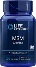 Life Extension MSM 1000 Mg, 100 Capsules - $41.38