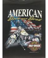 Harley Davidson 3D Emblem Vintage Single Stitch Large American Born and ... - $148.49