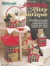Holiday Kitty Boutique, Christmas Plastic Canvas Pattern Booklet TNS 933... - $4.95