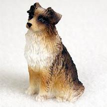 AUSTRALIAN SHEPHERD AUSSIE BROWN TINY ONES DOG Figurine Statue Pet Gift ... - $8.99