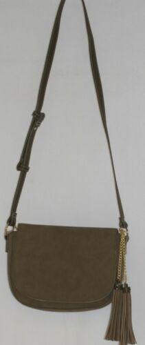 Amanda Blu Company Tassel Saddle Bag Purse 85137 Sage Color