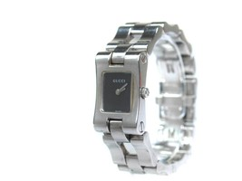 Auth GUCCI Model 2305L Black Dial Stainless Steel Quartz Women's Watch G... - $224.25 CAD