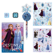 Disney Frozen 2 Anna and Elsa Girls Secret Diary Set with Stickers Stamp... - $14.99