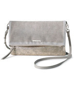 Stella & Dot Waverly Petite Brushed Metallic 3 In 1 Clutch Crossbody Bag... - £36.84 GBP