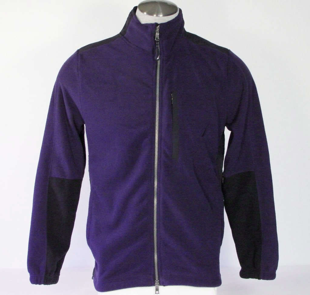 Nautica Zip Front Deep Cobalt Fleece Jacket Mens Small S NWT $79