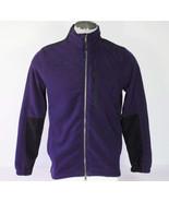 Nautica Zip Front Deep Cobalt Fleece Jacket Mens Small S NWT $79 - $48.74