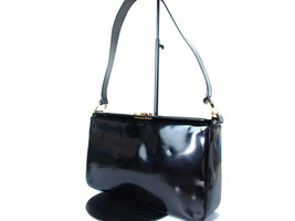 Authentic SALVATORE FERRAGAMO Ganchini Leather Black Shoulder Bag GS13354L - $119.00