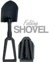 Folding Shovel Camping Backpacking Tool Entrenching Tri-Fold Black w/ Pouch - $23.07 CAD