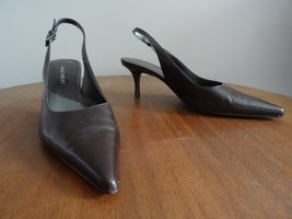 Nine West Size 6.5 Shoes Dark Brown Slingback Heels Pointy Toes Womens C... - $16.87