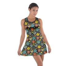 Women's Funny Hamsters Printed Sleeveless Cotton Racerback Dress Size XS-3XL - $24.99+