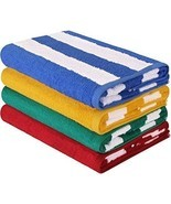 Extra Large Beach Towels 4 Oversized Home Swimming Pool Blankets Summer ... - £40.86 GBP