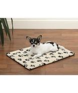 Dog Beds Ivory & Black Pawprint Crate Mats Warm Berber Therma Pet Choose... - $40.63