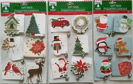 Christmas Self Adhesive Gift Tags w Silver Jingle Bells 6/Pk, Select: Theme - $2.99