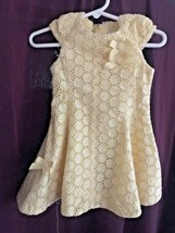 Toddler Yellow Eyelet Dress Size 18 months by The Children's Place - $6.78