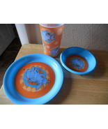 DR SUESS CHILDRENS DINING SET SET OF 3 HORTON HEARS A WHO plate bowl cup - $12.16