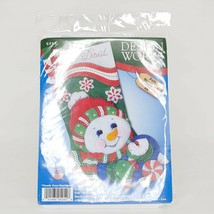 "Design Works Felt Stocking Applique Kit 18"" Long-Candy Cane Snowman, DW5252 - $21.77"