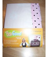 Jenny McCarthy Pretty in Pink White Brown Nursery Room Window Treatment ... - $12.00