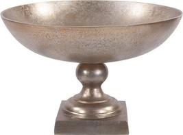 HOWARD ELLIOTT Footed Bowl Large Antiqued Gold Aluminum - $219.00