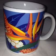 Hilo Hattie 1999 Hawaii Bird of Paradise Flower Coffee Mug Cup Multi Color - $9.46