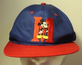 Disney Mickey Mouse Hawaii Hat Blue & Red Embroidered Adjustable Snap back - $14.84