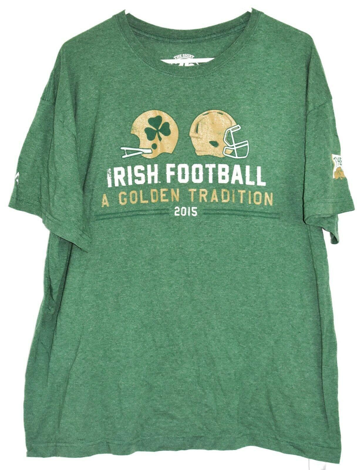 The Shirt 26 Years  2015 Notre Dame Irish Football Golden Tradition Legion XL