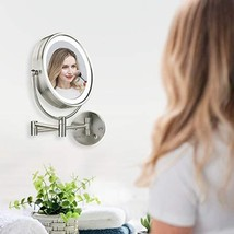 Ovente Wall Mounted Vanity Makeup Mirror 8.5 Inch with 7X Magnification ... - $64.99