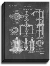 Mixing Valve for Tub and Shower Baths Patent Print Chalkboard on Canvas - $39.95+