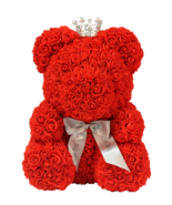 The Rose Bear Princess Queen Red Teddy Cub with Mini Crystal & Pearl Crown - $138.59