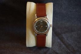 Vintage Mechanical Russian Watch Pobeda Unique Gold Brown Art Deco Design - $18.31