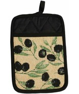 "Fabric Tapestry JUMBO POT HOLDER (7"" x 9"") OLIVES by HC - $7.91"