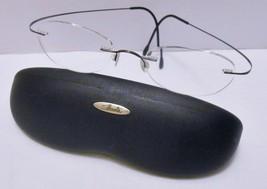 SILHOUETTE Eyeglasses FRAMES Rimless Titan Light Weight Gunmetal -20-110... - $79.95