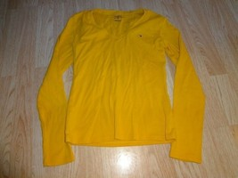 Women's Tommy Hilfiger S Yellow LS Shirt See Measurements - $11.29