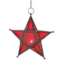 Red Glass Star Lantern 10012288 - $19.46