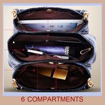 European Fashion Crocodile Style Genuine Leather Shoulder Braided Handle Handbag image 4
