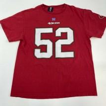 NFL San Francisco 49ers Willis #52 Shirt Men's Large Short Sleeve Red - $17.99