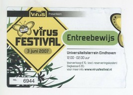 Rare VIRUS FESTIVAL 6/3/07 Einhaven Netherlands Concert Ticket Stub! - $3.95