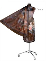 Brown Floral Digital Print Satin Straight Suit Dupatta Casual Wear 7494 - $115.61