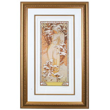 """""""WINTER"""" by ALPHONSE MUCHA, Print Signed and Numbered - $3,724.32"""